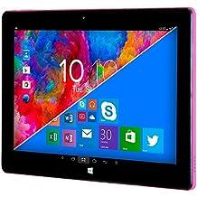 """Woxter ZEN 12 - Tablet de 11.6"""" (Intel Atom Z3735F Quad Core, 1.33-1.83 GHz, Wi-Fi, Bluetooth, 2 GB de RAM DDR3L, 32 GB de memoria interna, Windows 10/Android 5.1) color negro y rosa"""