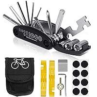 VICKSONGS Kit de Herramientas para Bicicleta, [16 Set/Aleación, Alta Dureza] Kit Pinchazos Bici, Herramienta de Reparación Multifunción para Bicicleta