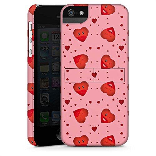 Apple iPhone X Silikon Hülle Case Schutzhülle Valentinstag Pink Herzen Premium Case StandUp