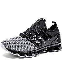NEOKER Zapatillas Running Hombre Mujer Sneakers Calzado Deportivo Verano Aire  Libre y Deporte Gimnasia Respirable Negro 84d21d23b4d
