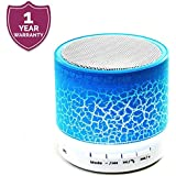 Enraciner Mini LED Light Wireless Bluetooth Portable Speaker for All Smartphones/iPhones - Assorted Color
