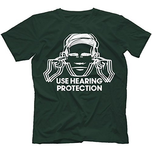 Use Hearing Protection The Hacienda T-Shirt Uomo Verde Foresta GREEN