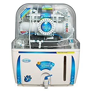 Ruby Ro+Uv+Tds Controller Water Purifier,White & Blue