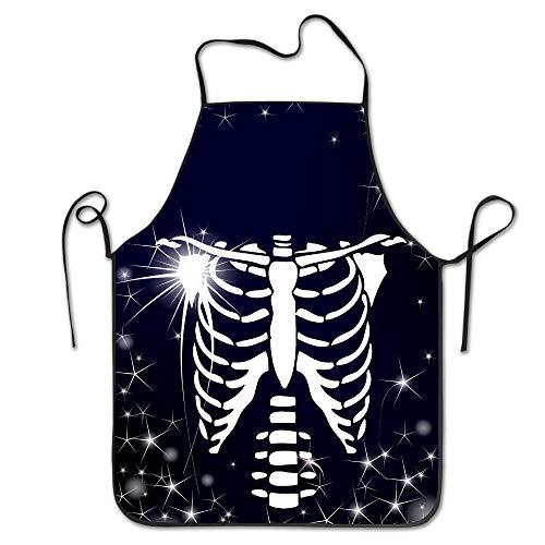 Estrange Halloween Skeleton Glow In The Dark Kitchen Cooking BBQ Apron (Glow In The Dark Dog Toy)