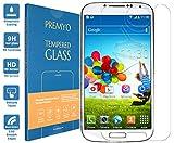 PREMYO Panzerglas für Galaxy S4 Schutzglas Display-Schutzfolie für Galaxy S4 Blasenfrei HD-Klar 9H 2,5D Echt-Glas Folie kompatibel für Galaxy S4 Gegen Kratzer Fingerabdrücke