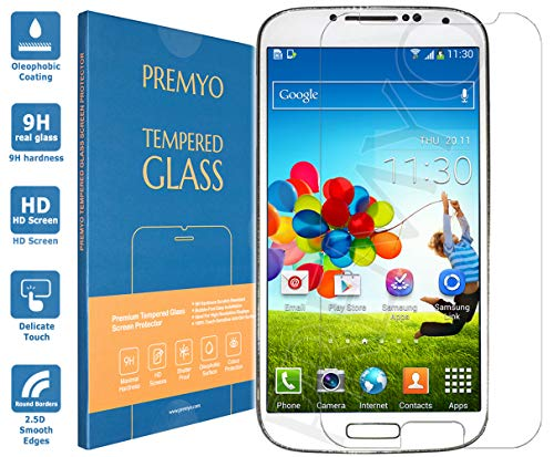PREMYO Compatible con Vetro Temperato Samsung Galaxy S4