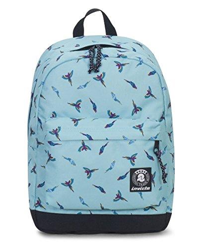 ZAINO INVICTA - CARLSON - Waterfall Parrots fantasia azzurra - tasca porta pc padded - americano 27 LT