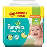 Pampers Couches Baby-Dry Taille 6 + 60 couches