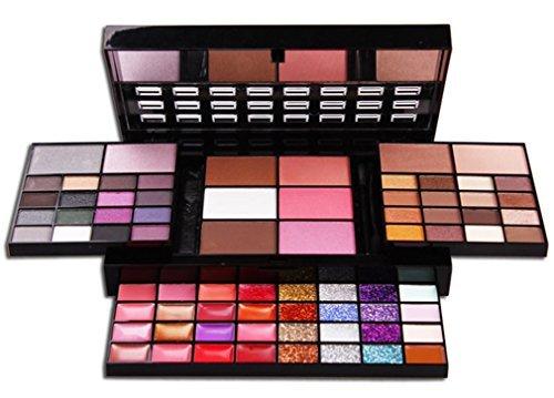 PhantomSky 74 Couleurs Fard à Paupières Palette de Maquillage Cosmétique Set avec Correcteur, Fard à Joues, Poudre Pressée et Rouge à Lèvres - Parfait pour une Utilisation Professionnelle et Quotidienne