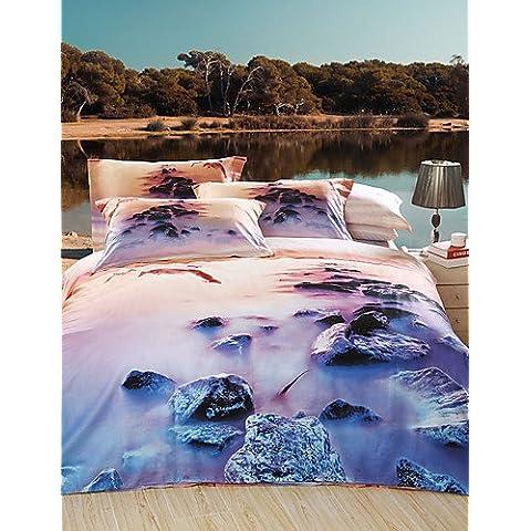 GG Foggy Rock Patch nuovo arrivo Luxury 3d pattern set biancheria da letto Copripiumino imposta, Queen Size Queen