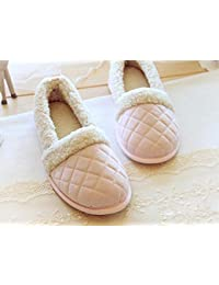 Zapatilla casa de Cachemira Interior antideslizante a zapatillas zapatos zapatos de las mujeres , pink , 38-39