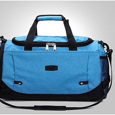 Unisex Tasche Canvas All Seasons zwanglosen Outdoor zylindrische Zipper Navy Blue Fuchsia Grau Blau Schwarz Black