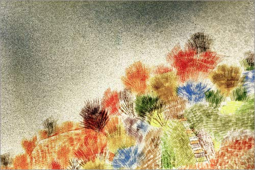 Poster 90 x 60 cm: Bushes in Spring di Paul Klee/akg-Images - Stampa Artistica Professionale, Nuovo Poster Artistico