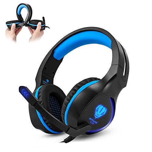Szdw SL-100 3.5mm Gaming Headset, Stereo Sound Over-Ear Kopfhörer für PC, Xbox One, PS4, Mac, Laptop, Handys Zune-headset
