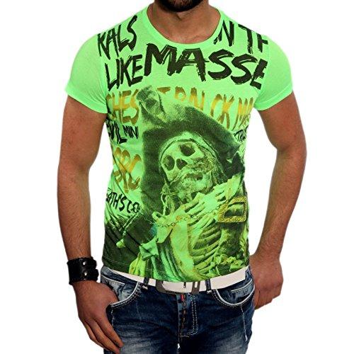 Geile R-NEAL Style Kurzarm Poloshirt Polo Hemd Slim Fit Herren T-Shirt 6642 NEU! Grün