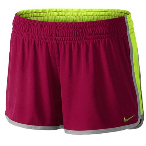 Women's Nike 3.5 Inch Fly Knit Training Shorts (XS, Bright Magenta/Volt/Base Grey) -