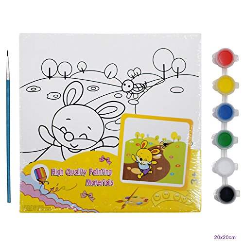 AsianHobbyCrafts Mini Canvas Painting Kit 'Hare and the Tortoise'