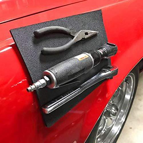 huichang Auto Zubehör Magnetic Mat zum Aufbewahren Reparatur Werkzeuge (Schwarz)