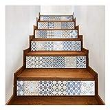 SERFGTFH Treppe Aufkleber Mosaik Fliesen Wand Selbstklebende Wasserdichtem PVC-Wandaufkleber Küche Keramik Sticker Zur Dekoration