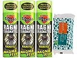 Zig Zag, Magnatela, Insetticida per Ragni e Ragnatele ad alta residualità, previene formazione di ragnatele fino a 40 giorni, 3 confezione da 500 ml