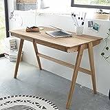 Pharao24 Schreibtisch aus Eiche Massivholz 120 cm