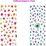Watercolor Flowers 3D Nail Art Stickers Manicure Marble Nail Design Stickers By DALUCI (2 Sheet) (018+019)