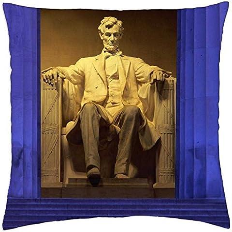Washington DC Lincoln Memorial–Throw Pillow Cover Case (45,7x 45,7cm)