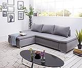 DELIFE Couch Abilene Ottomane variabel Schlaffunktion Wohnlandschaft Sofaart: Ecksofa