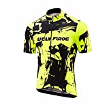 Uglyfrog Fahrradbekleidung Damen Kurzarm Radsport Trikots & Shirt Sport & Freizeit Sommer Style Full Zipper Mountainbike-Clothes SLW05