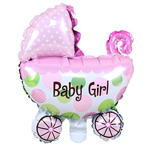 katur Baby Wasserstoff Ballon Dekorationen Aufblasbare Luft Bälle Baby Kinderwagen Kinder Geburtstagsfeier Baby Dusche Jungen und Mädchen 29 * 37cm Rosa ()