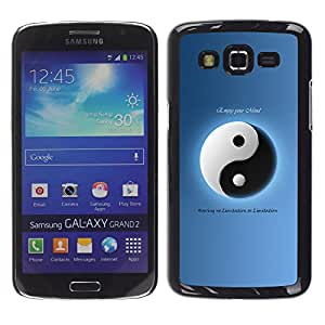 Harte PC Hülle Schutzhülle Handyhülle Hard Protective Case Smartphone Cover for Samsung Galaxy Grand 2 // Tai Chi Yin und Yang-Instrument // CooleCell