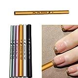 takestop Set 6pièces bâtons bâtons en acier réutilisables pour allongement acrylique résine Reconstruction Nail Art Ongles Gel