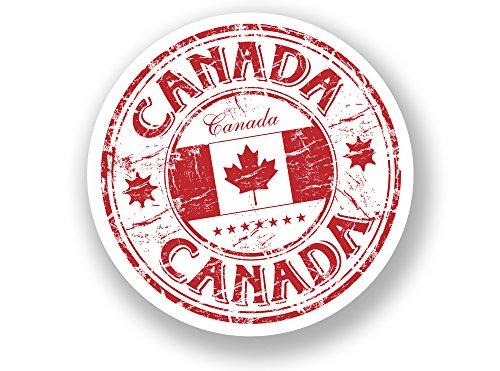 2x Kanada Vinyl Aufkleber Reise Gepäck in Kanada # 7072 - 10cm/100mm Wide (Kanada Aufkleber)