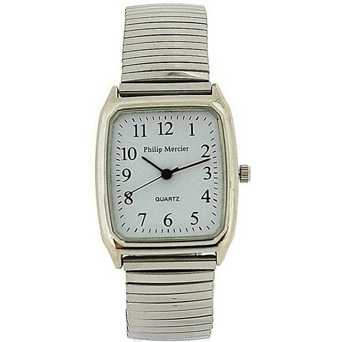 Philip Mercier Gents Silver Tone Expander Bracelet Strap Dress Watch MC47C