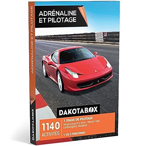 DAKOTABOX - Coffret Cadeau - ADRÉNALINE ET PILOTAGE - 1140 activités : 1 stage de pilotage jusqu'à 6 tours : Ferrari F458, Lamborghini, Maserati…