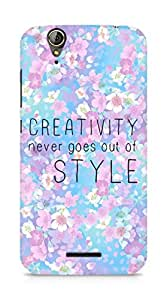 AMEZ creativity never goes out of style Back Cover For Acer Z630S