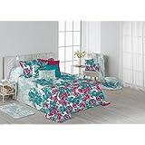 Colcha Bouti de Verano. Diseño estampado. Incluye fundas de Cojines - Edredones y colchas de cama Mod.Jungle (Cama de 150cm)