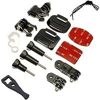 micros2u Kit di montaggio da 14 pezzi per GoPro Hero 3,3+, 4,5,6 e Session,accessori per videocamera HD GoPro