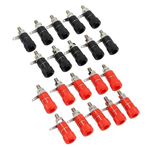 KEESIN 10 Paare binden Post Banane Stecker 4mm Audio Lautsprecher Steckdose Verstärker Terminal Verbinder