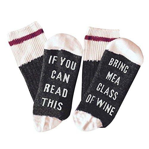 Preisvergleich Produktbild If You Can Read This Bring Me A Glass Of Wine Socken für Damen und Herren von Zucker & Garn - Lustige Geschenkidee zu Weihnachten