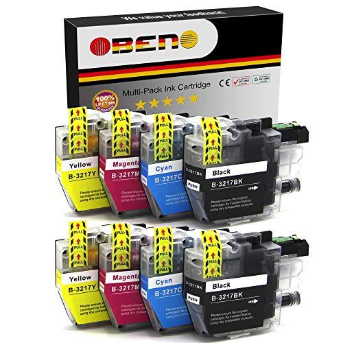 OBENO   2 Sets   LC3217 LC3219 8 Packs Cartucho Tinta