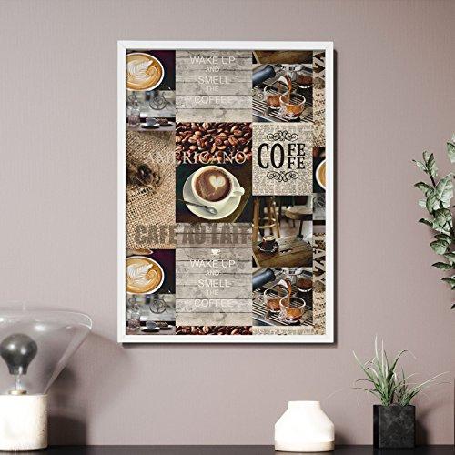 Newroom Design NEWROOM Wandbild 70x50cm Wandposter fertig zum Aufhängen gerahmt Premium