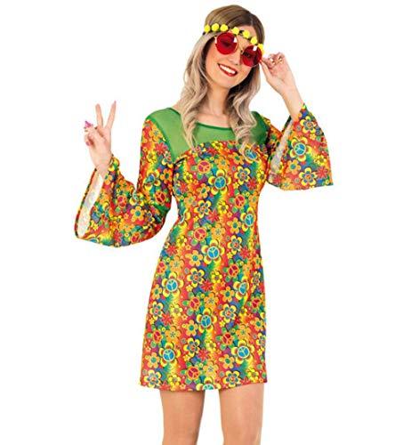 Kostüm Blumenkind - KarnevalsTeufel Damenkostüm Hippie Summer, 60er Jahre, Blumenkind, Festival (40)
