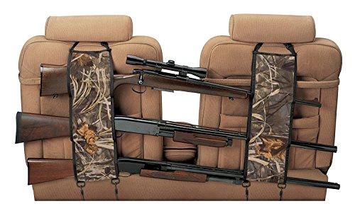 ishowstore 1Paar Auto Sitz Zurück Gun Sling Aufhänger Organizer Rack Aufbewahrungstasche für 3Jagd Gewehre/Schrotflinten/Schusswaffen im Auto Truck SUV DNW Tonabnehmer Mini Vans Jeeps (Pistole Jagd)