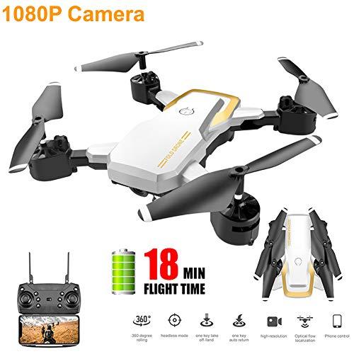 JJR/C WiFi FPV 1080P HD Kamera, Drone RC Quadrocopter Mit App-Gesteuert Kopfloser Modus Geschwindigkeitskontrolle Bildübertragung VR Erfahrung,Für Kinder Und Anfänger Drohnen Training,Weiß