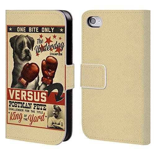 Offizielle Lantern Press Labrador Hund Kollektion Brieftasche Handyhülle aus Leder für Apple iPhone 4 / 4S Versus