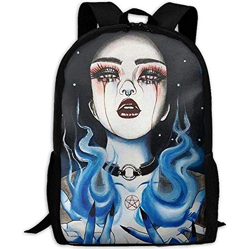 Rucksack,Personalisiert Laptoptasche,Lässiger Oxford Backpack,Unisex Casual Goth Gotik Gothic...