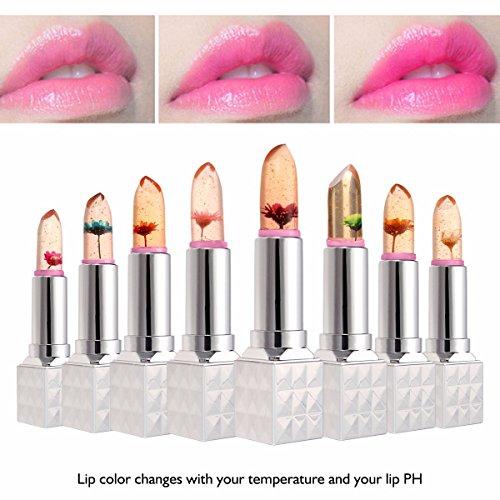 un Rouge � L�vre LuckyFine Lipstick G�lee Extraits de Fleur Changement de Couleur selon Temp�rature pour 8 Couleurs