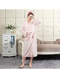 Blueqier Pyjama de Nuit Albornoz de Franela Pijamas de Terciopelo de Coral Albornoz de Terciopelo de
