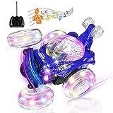 UTTORA Ferngesteuertes Auto, Kinderspielzeug für Jungen Mädchen, Dual Modi 360° Drehbarer Stunt Rennwagen LED-Lichter, USB-Kabel, Kontrollierte Schaltermusik ,Geschenk für Jungen Mädchen